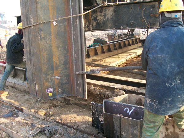 Z Type De Palplanches Soudé Box Piles Embarqué Au Vietnam