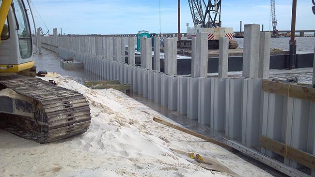 Palplanches en vinyle pour le coût de construction efficace