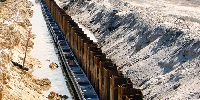 Palplanches - Soutien aux excavations