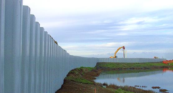 Conception optimale du mur Palplanche encastré dans de l'argile