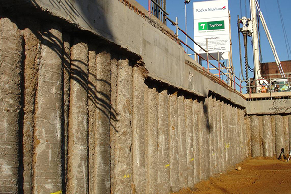Mur de soutènement Palplanche Construction Stationnement