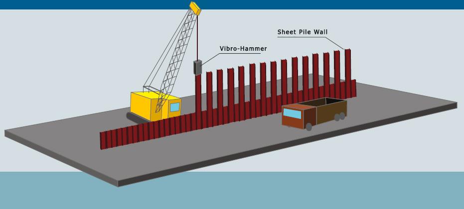Animation de construction Palplanche